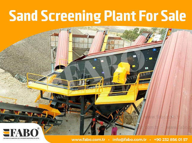Sand Screening Plant For Sale