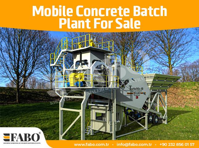 Mobile Concrete Batch Plant For Sale
