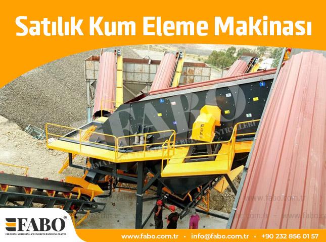 Satılık Kum Eleme Makinası