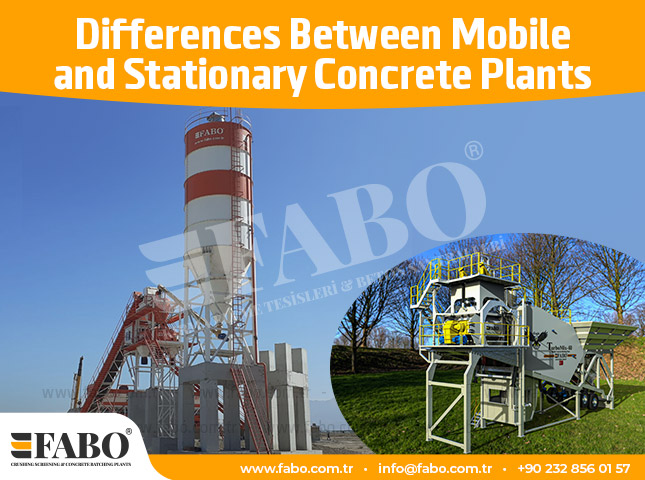 Differences Between Mobile and Stationary Concrete Plants