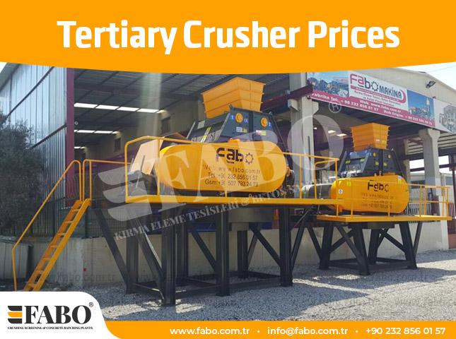 Tertiary Crusher Prices
