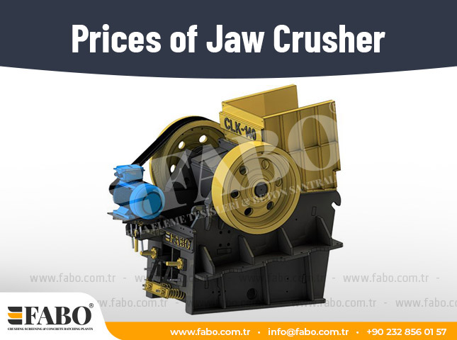 Prices of Jaw Crusher