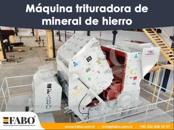 Máquina trituradora de mineral de hierro