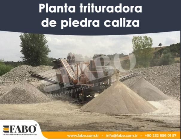 Planta trituradora de piedra caliza