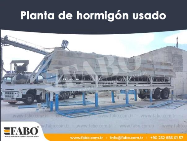 Planta de hormigón usado