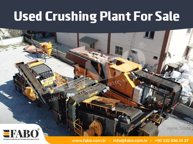Used Crushing Plant For Sale