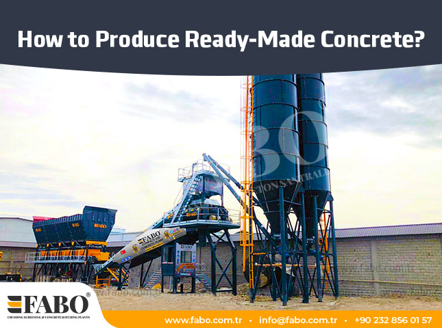 How to Produce Ready-Made Concrete?